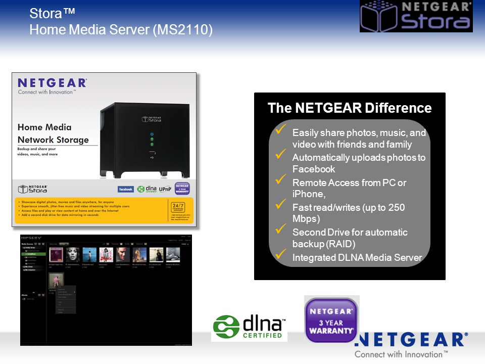 Stora™ Home Media Server (MS2110)