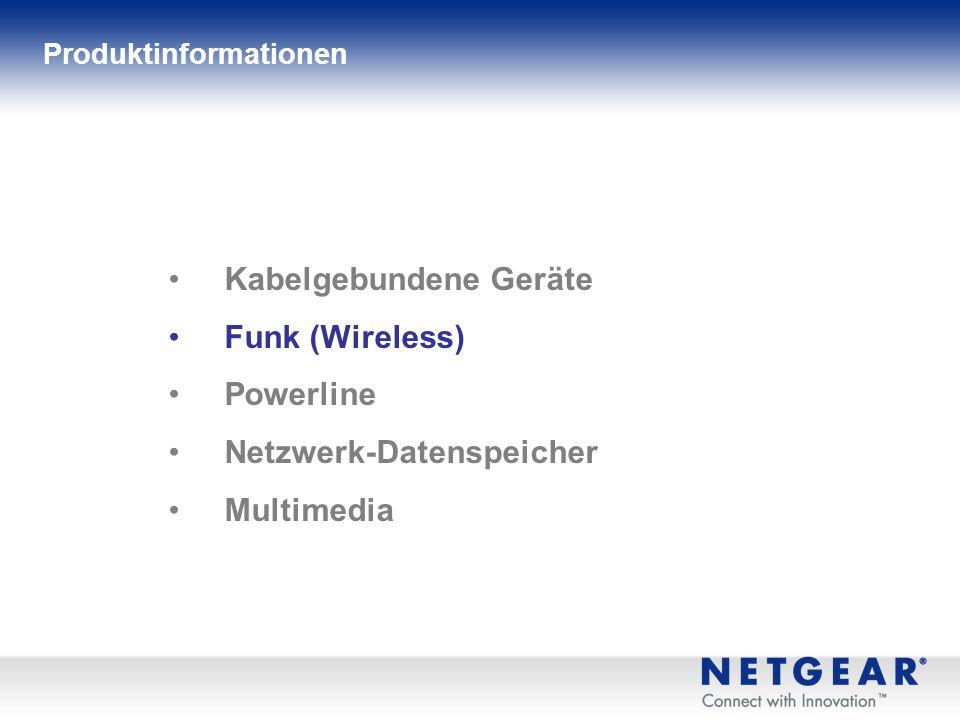 Kabelgebundene Geräte Funk (Wireless) Powerline Netzwerk-Datenspeicher