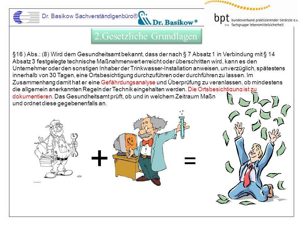 + = 2.Gesetzliche Grundlagen Dr. Basikow Sachverständigenbüro®