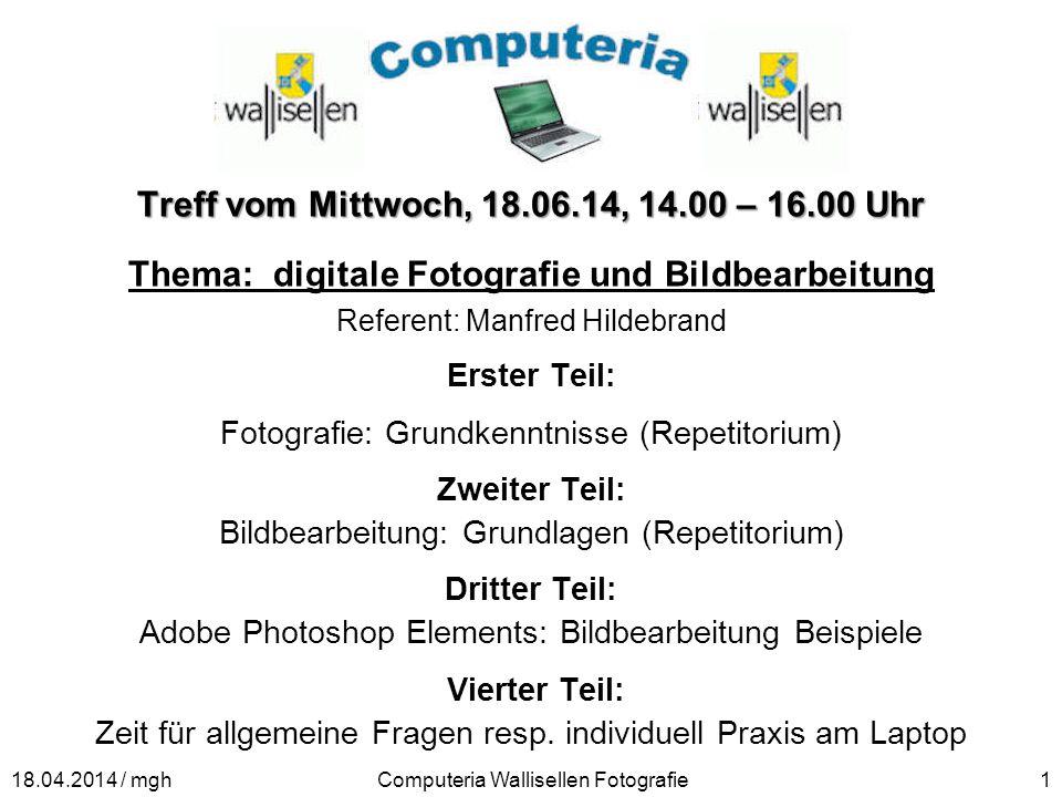 Thema: digitale Fotografie und Bildbearbeitung