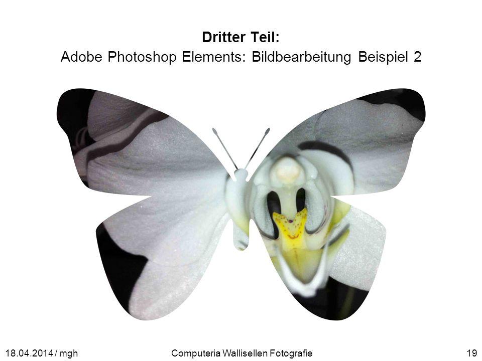 Dritter Teil: Adobe Photoshop Elements: Bildbearbeitung Beispiel 2