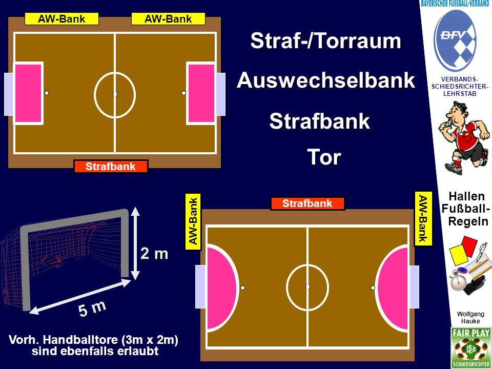 Vorh. Handballtore (3m x 2m) sind ebenfalls erlaubt
