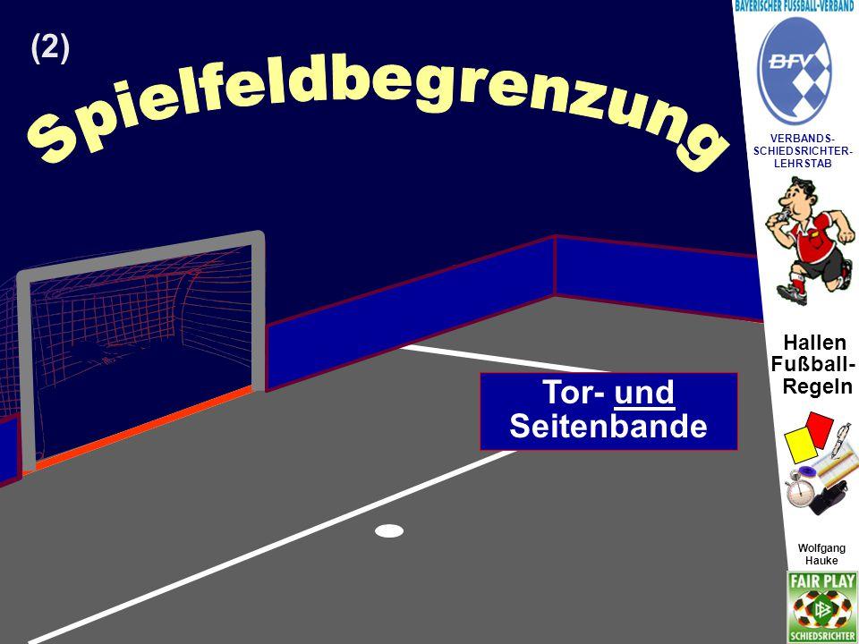 oder Spielfeldbegrenzung (2) Tor- und Seitenlinie Tor- und Seitenbande