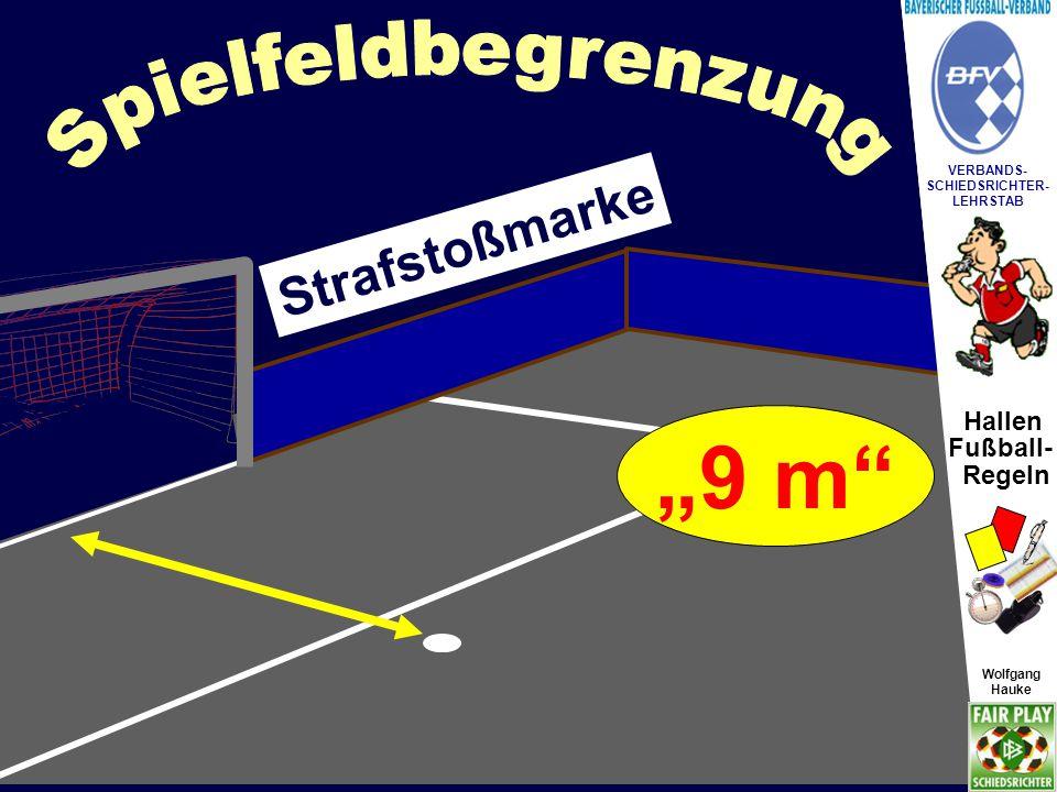 """""""9 m Spielfeldbegrenzung Strafstoßmarke """"allein darf nicht"""