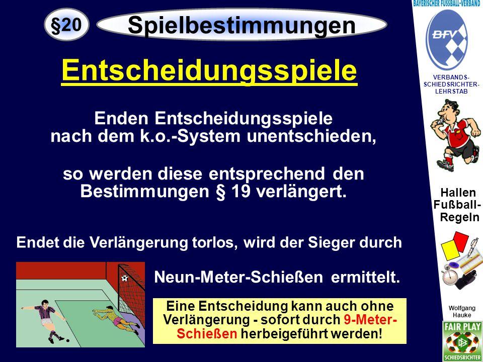 Entscheidungsspiele Spielbestimmungen §20 Enden Entscheidungsspiele