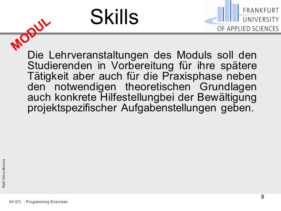 Skills MODUL.