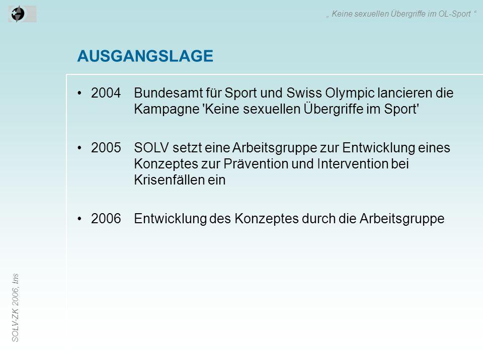 """"""" Keine sexuellen Übergriffe im OL-Sport"""