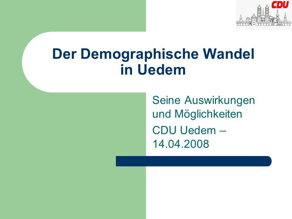 Der Demographische Wandel in Uedem