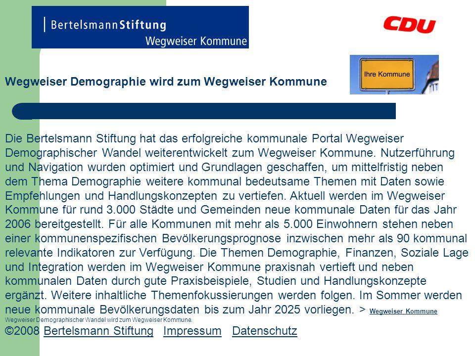 Wegweiser Demographie wird zum Wegweiser Kommune