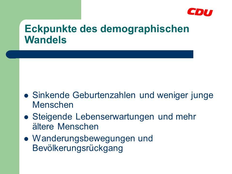Eckpunkte des demographischen Wandels