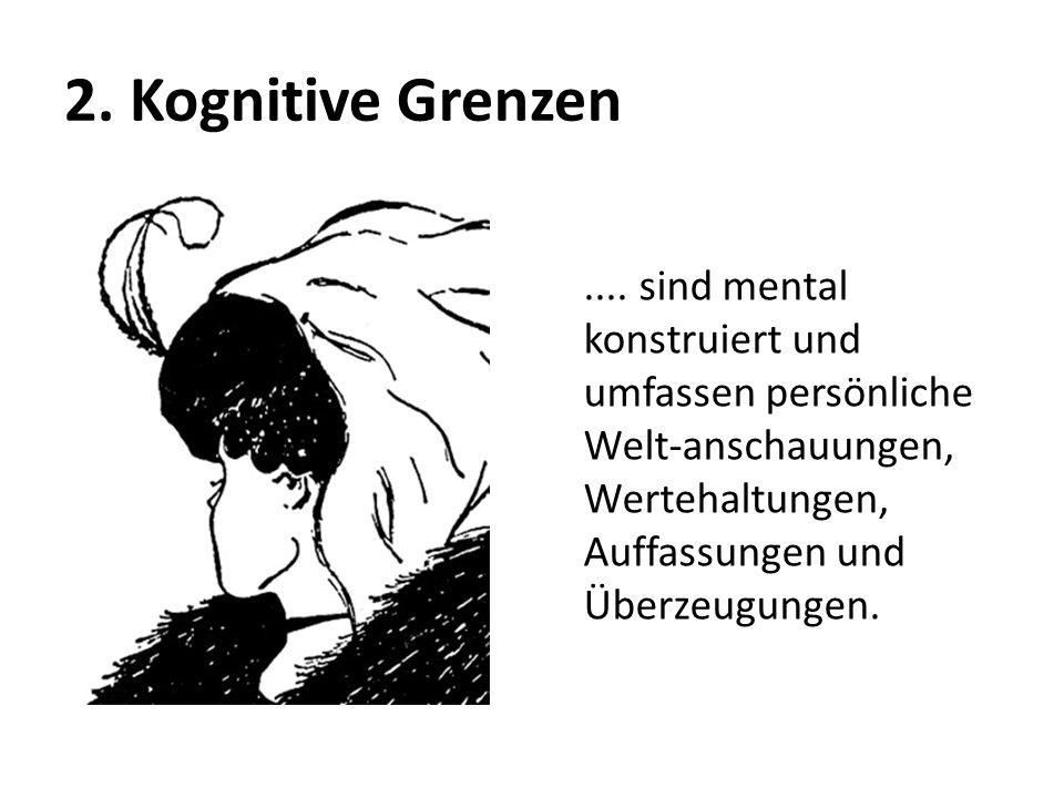 2. Kognitive Grenzen .... sind mental konstruiert und umfassen persönliche Welt-anschauungen, Wertehaltungen, Auffassungen und Überzeugungen.