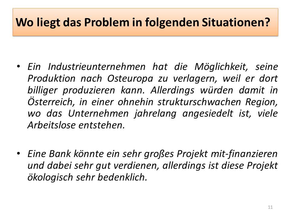Wo liegt das Problem in folgenden Situationen