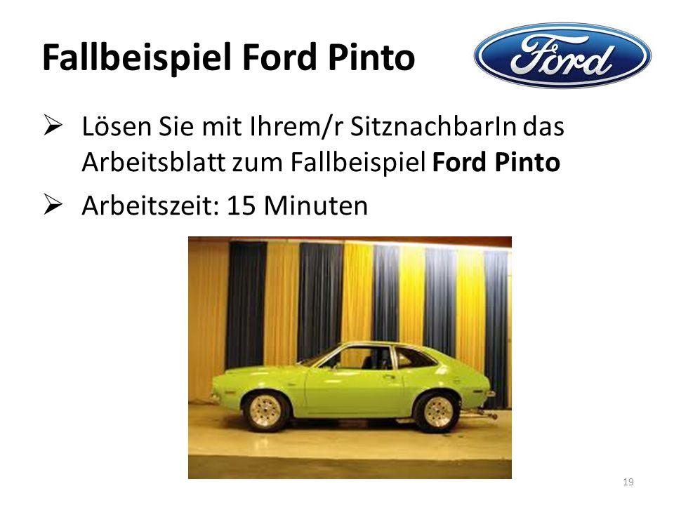 Fallbeispiel Ford Pinto