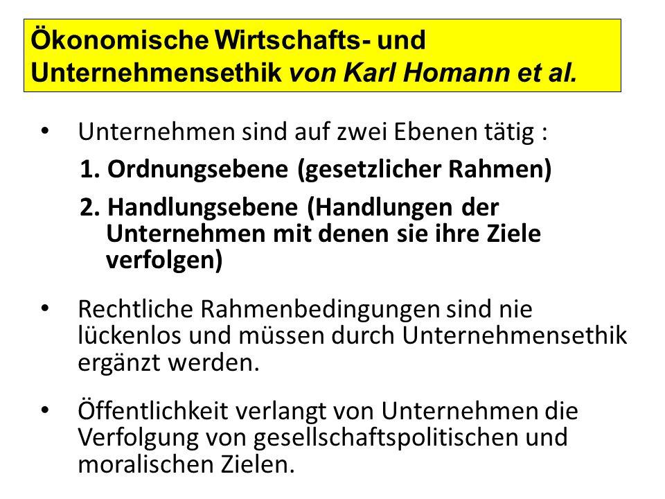 Ökonomische Wirtschafts- und Unternehmensethik von Karl Homann et al.