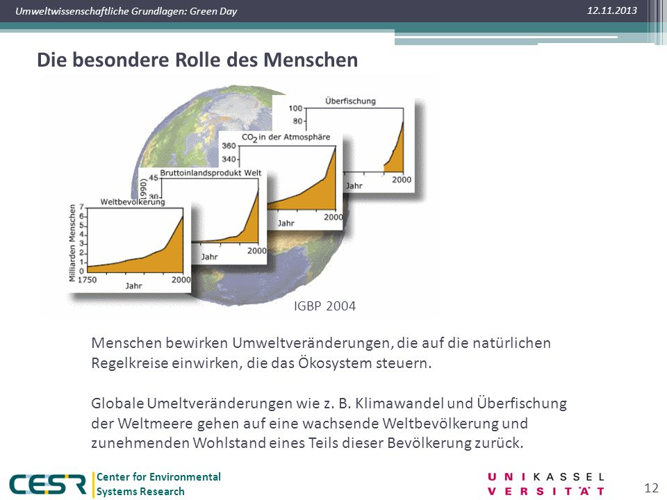 Planetary Boundaries Gefährdung der Ökosysteme
