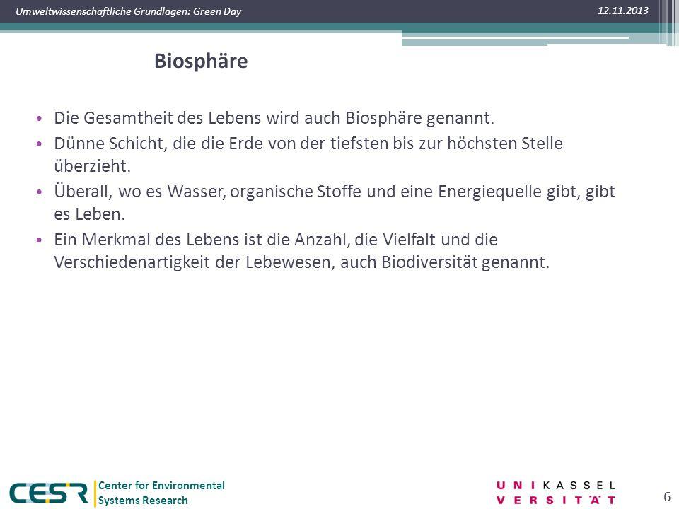 12.11.2013 Biodiversität. www.oekosystem-erde.de. Grundlage für zahlreiche Dienstleistungen des Ökosystems Erde.