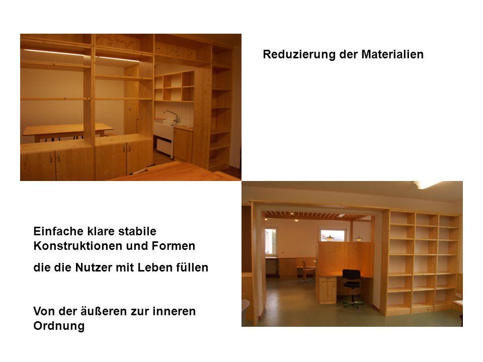 Reduzierung der Materialien