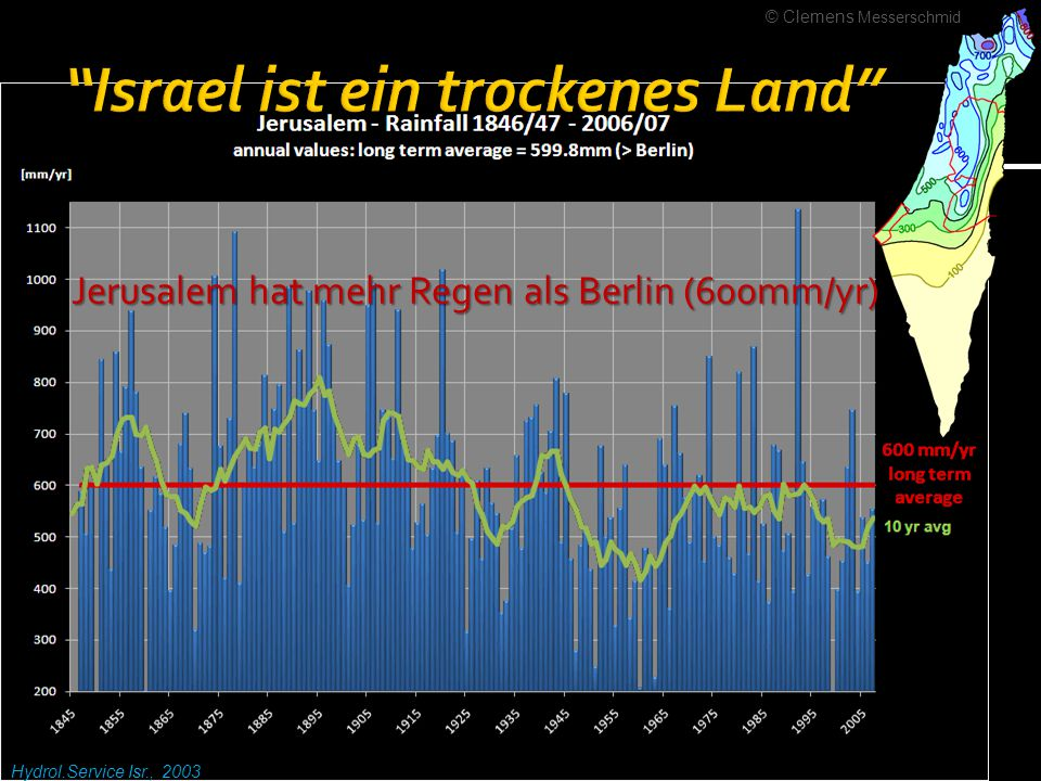Israel ist ein trockenes Land