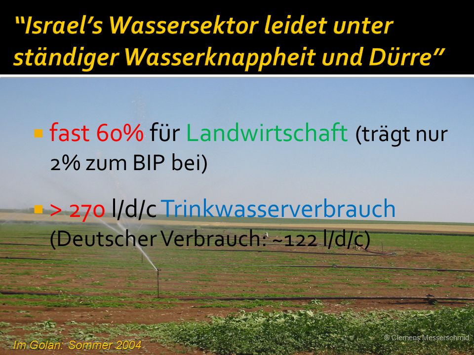 fast 60% für Landwirtschaft (trägt nur 2% zum BIP bei)