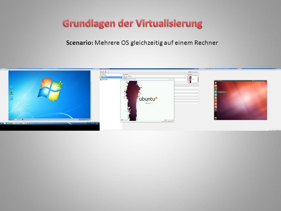 Scenario: Mehrere OS gleichzeitig auf einem Rechner
