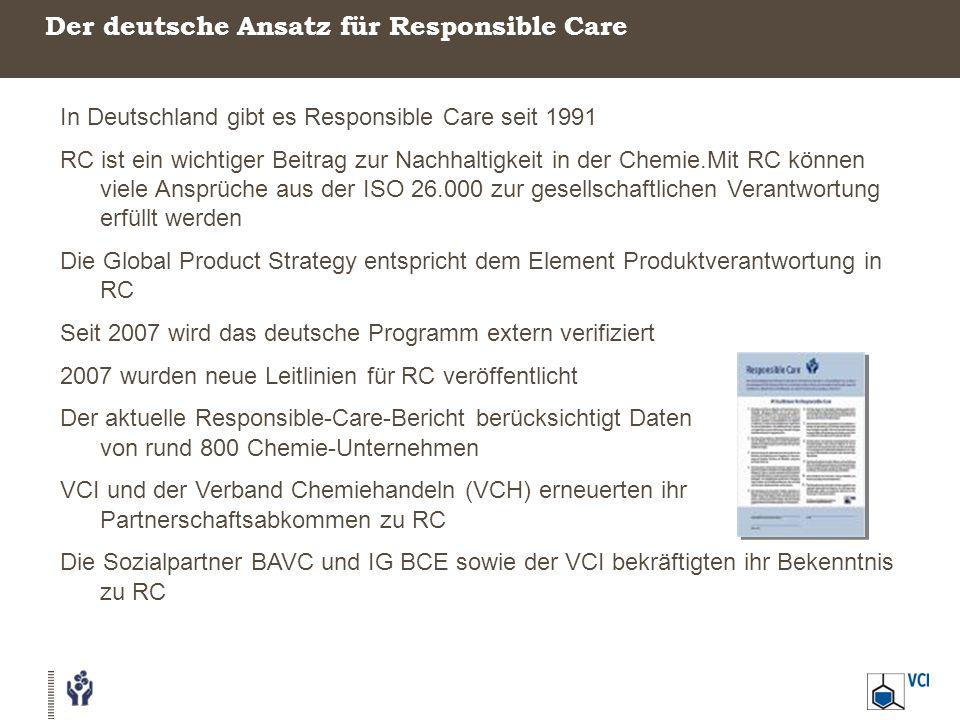 Der deutsche Ansatz für Responsible Care