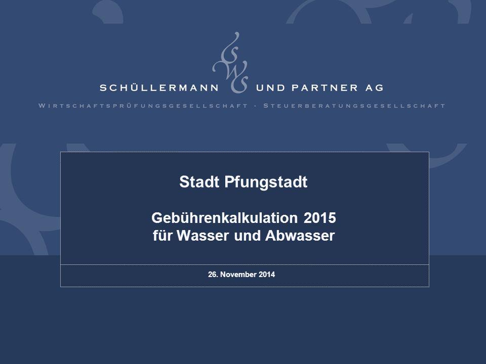 Stadt Pfungstadt Gebührenkalkulation 2015 für Wasser und Abwasser