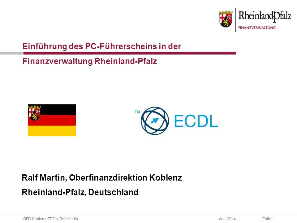 Einführung des PC-Führerscheins in der Finanzverwaltung Rheinland-Pfalz