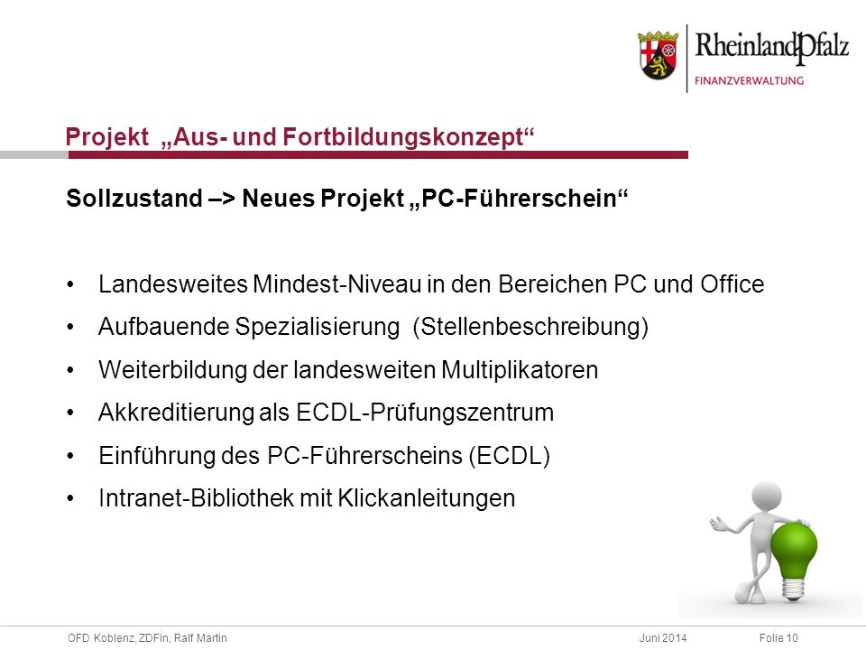 """Projekt """"Aus- und Fortbildungskonzept"""