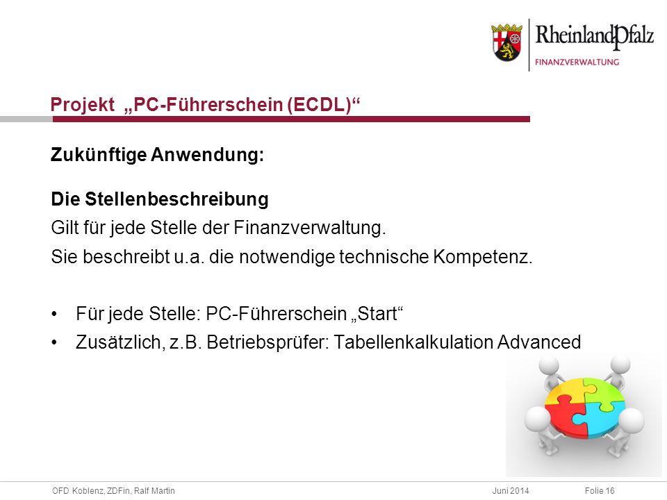 """Projekt """"PC-Führerschein (ECDL)"""
