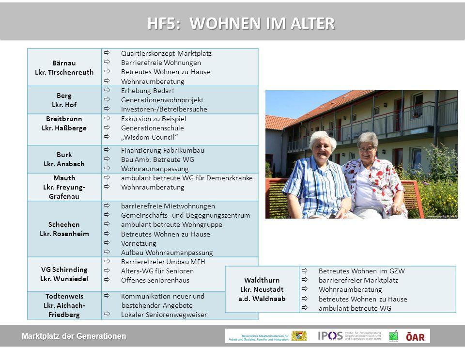 HF5: WOHNEN IM ALTER Bärnau Lkr. Tirschenreuth