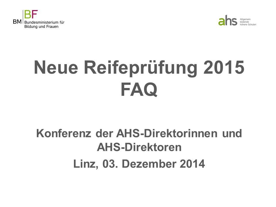 Konferenz der AHS-Direktorinnen und AHS-Direktoren