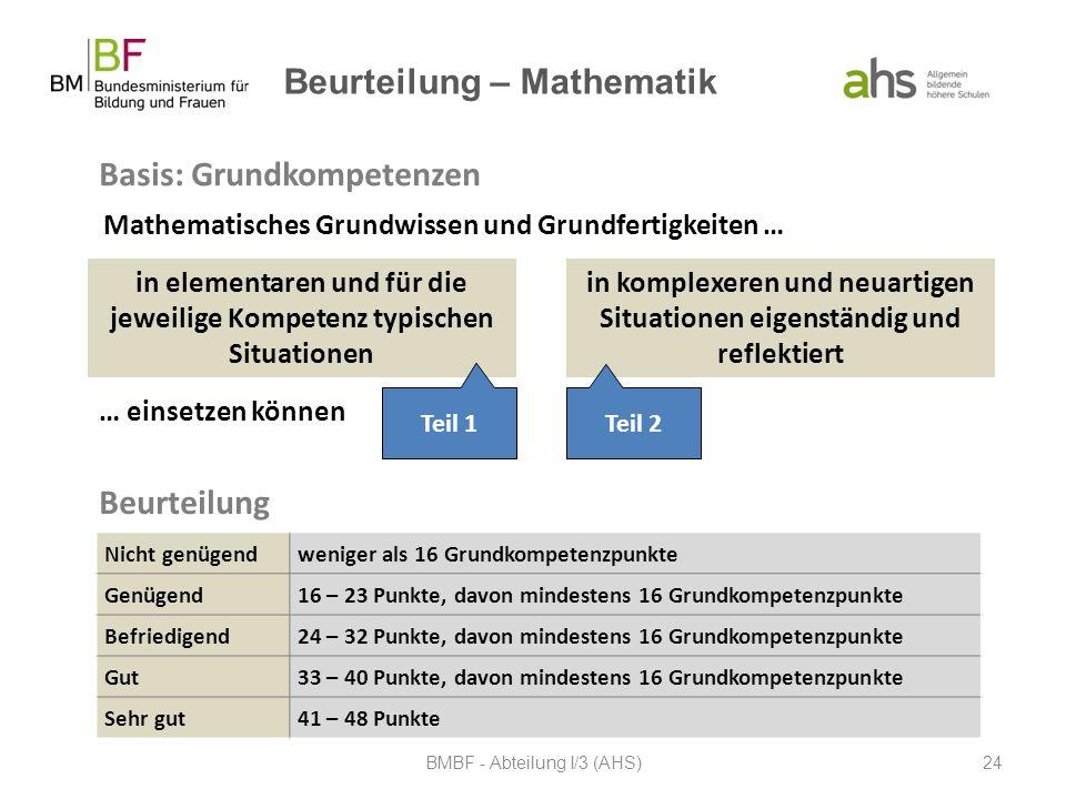 Beurteilung – Mathematik