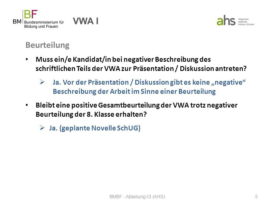 BMBF - Abteilung I/3 (AHS)