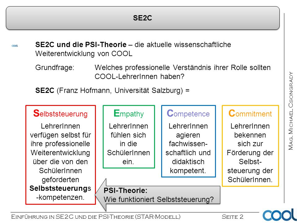 Selbststeuerung Empathy Competence Commitment SE2C