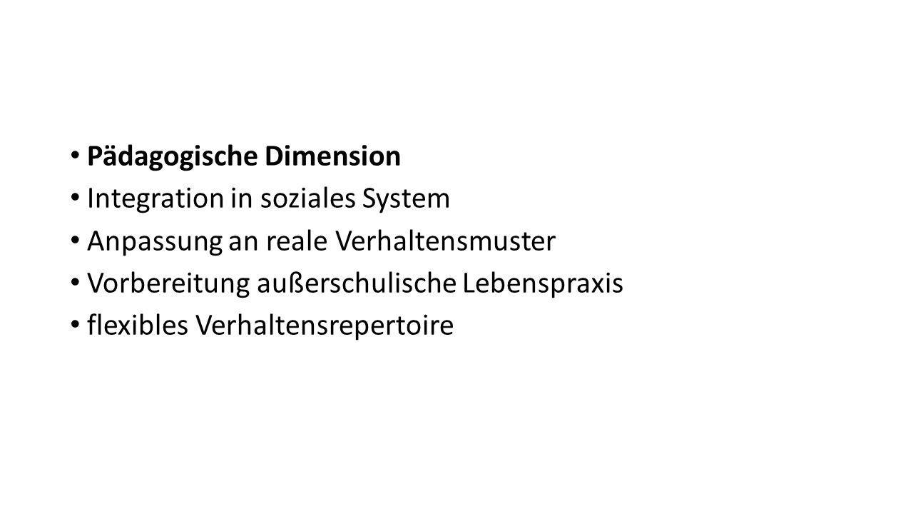 Pädagogische Dimension