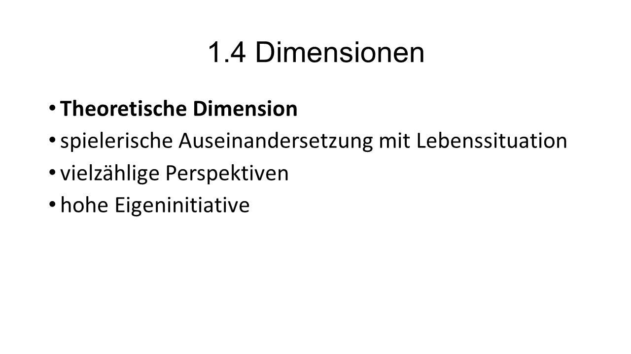 1.4 Dimensionen Theoretische Dimension