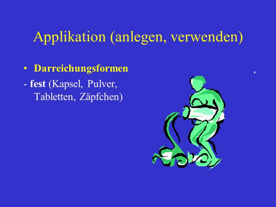 Applikation (anlegen, verwenden)