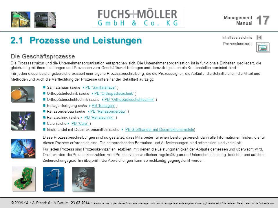 2.1 Prozesse und Leistungen
