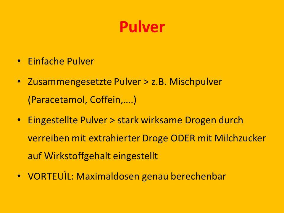 Pulver Einfache Pulver