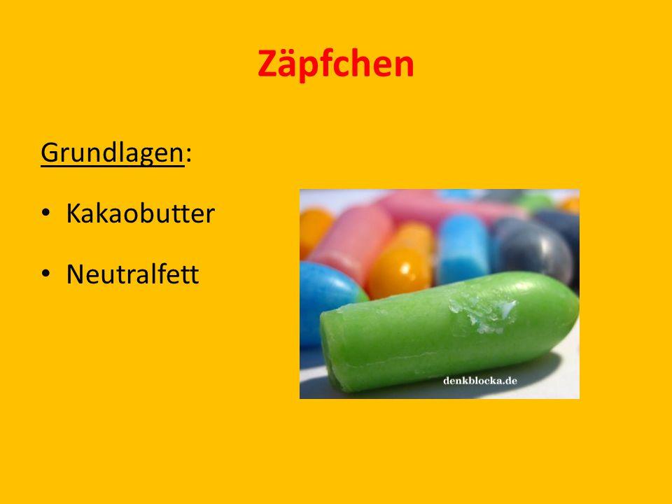 Zäpfchen Grundlagen: Kakaobutter Neutralfett