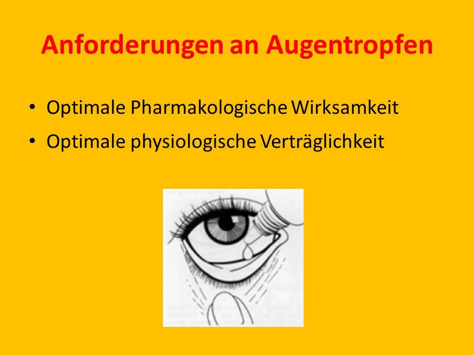 Anforderungen an Augentropfen