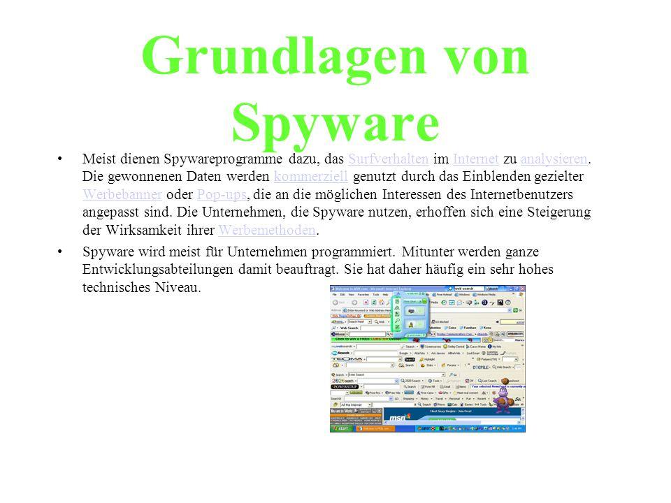 Grundlagen von Spyware
