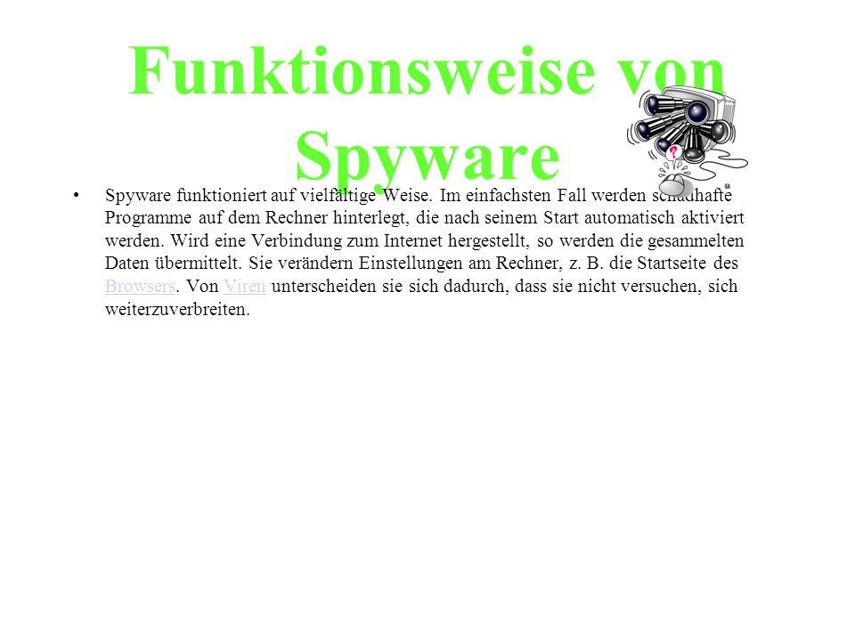 Funktionsweise von Spyware