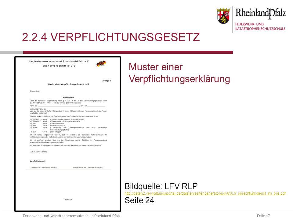 2.2.4 Verpflichtungsgesetz