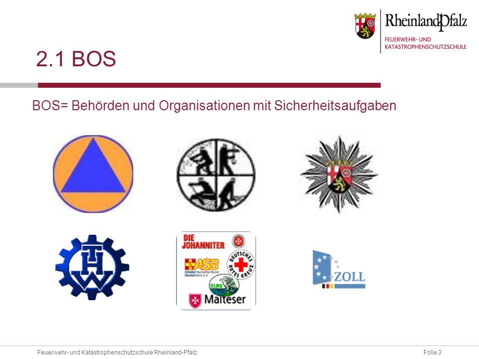 2.1 Bos BOS= Behörden und Organisationen mit Sicherheitsaufgaben