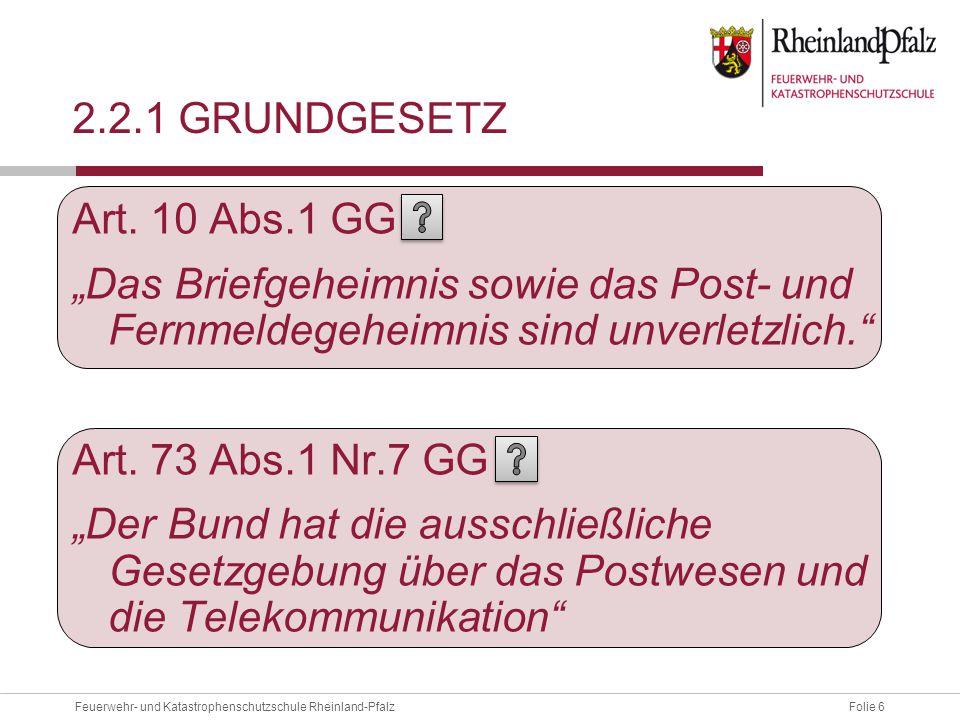 2.2.1 Grundgesetz