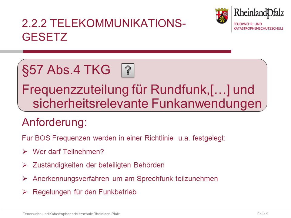 2.2.2 Telekommunikations- Gesetz