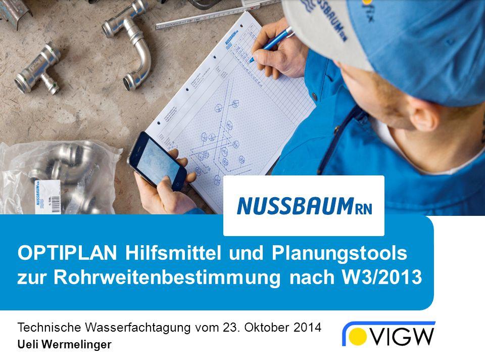 Technische Wasserfachtagung vom 23. Oktober 2014 Ueli Wermelinger