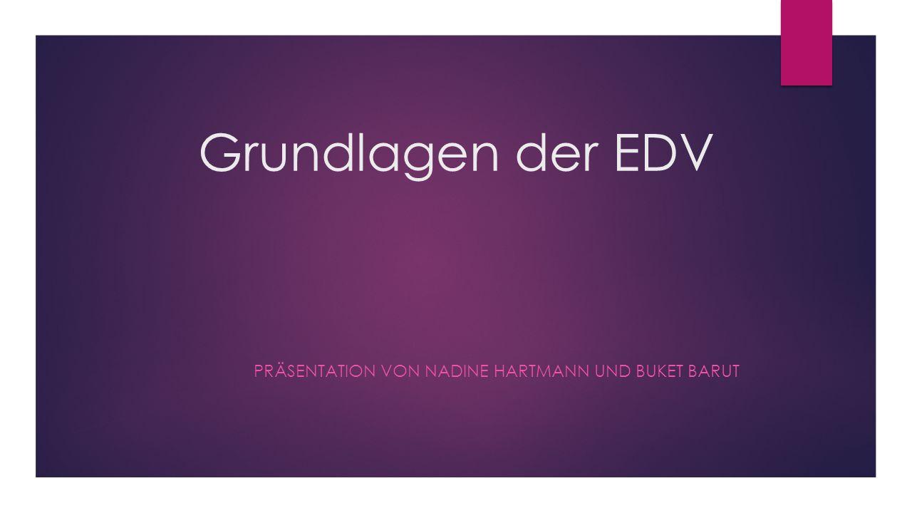 Präsentation von Nadine Hartmann und Buket Barut