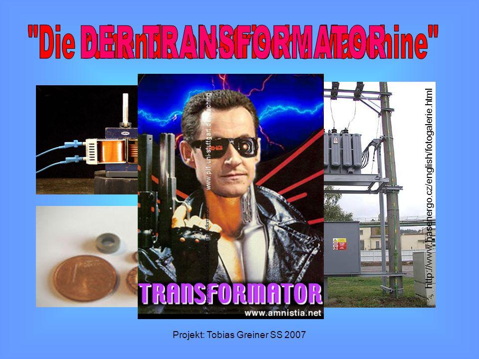Die ruhende elektrische Maschine DER TRANSFORMATOR